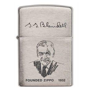 Bật lửa Zippo hình ảnh và chữ ký người sáng lập Zippo 200FL