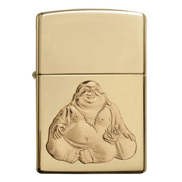 Bật lửa Zippo nụ cười may mắn của thần Buddha 29626