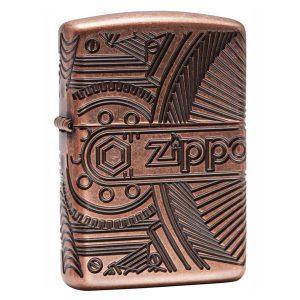 Bật lửa zippo armor Gears Antique Copper 29523