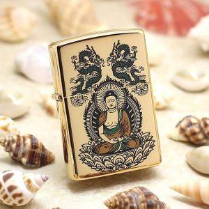 Bật lửa Zippo khắc hình Phật Tổ Như Lai ZBT-4-14A