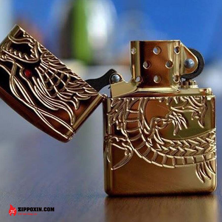 Bật lửa zippo rồng vàng Asian Dragon 29265-5