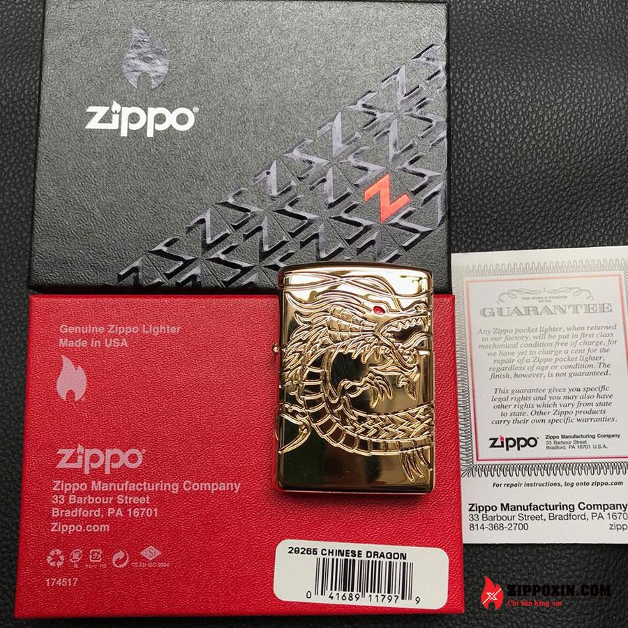 Bật lửa zippo rồng vàng Asian Dragon 29265-8