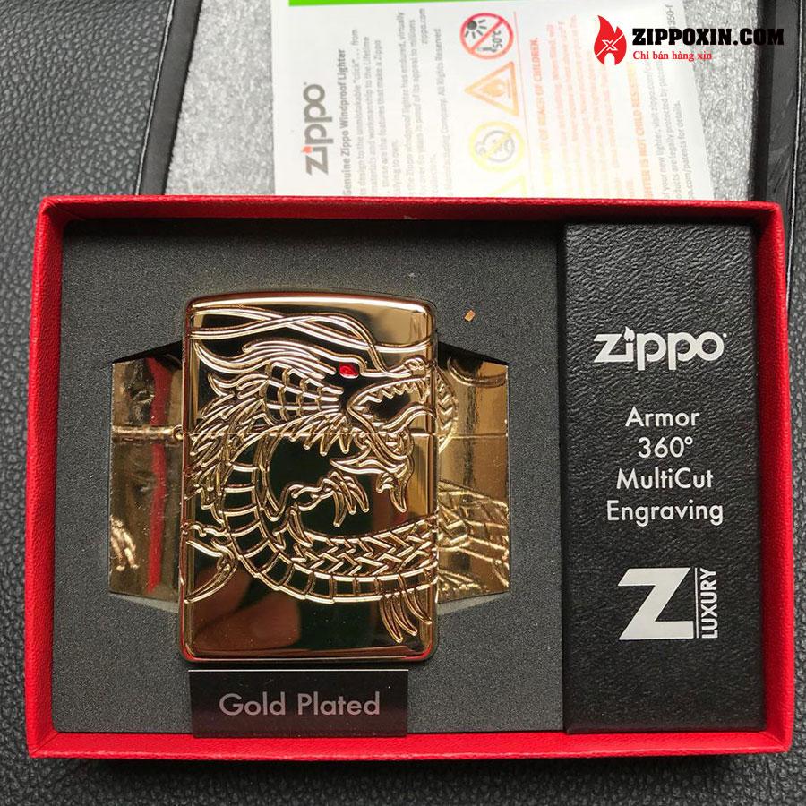 Bật lửa zippo rồng vàng Asian Dragon 29265-10