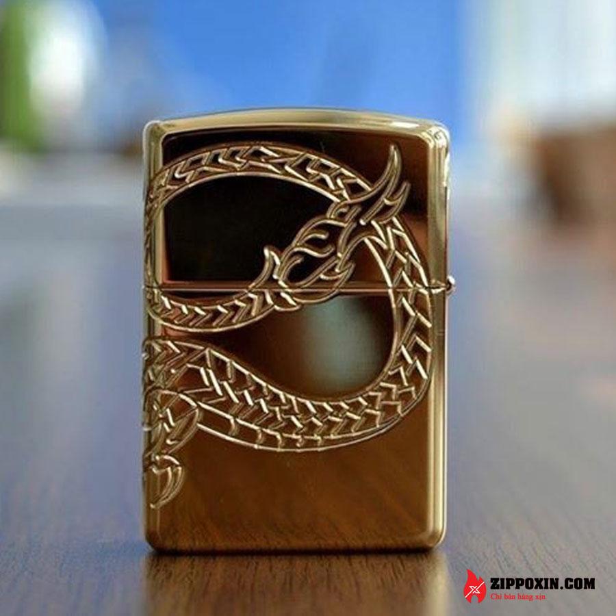 Bật lửa zippo rồng vàng Asian Dragon 29265-3