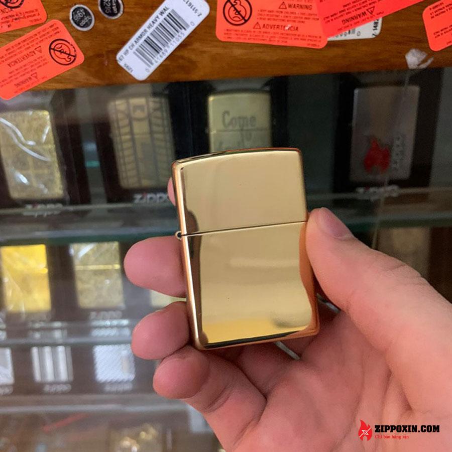 Bật lửa Zippo vàng trơn bóng 254B-1