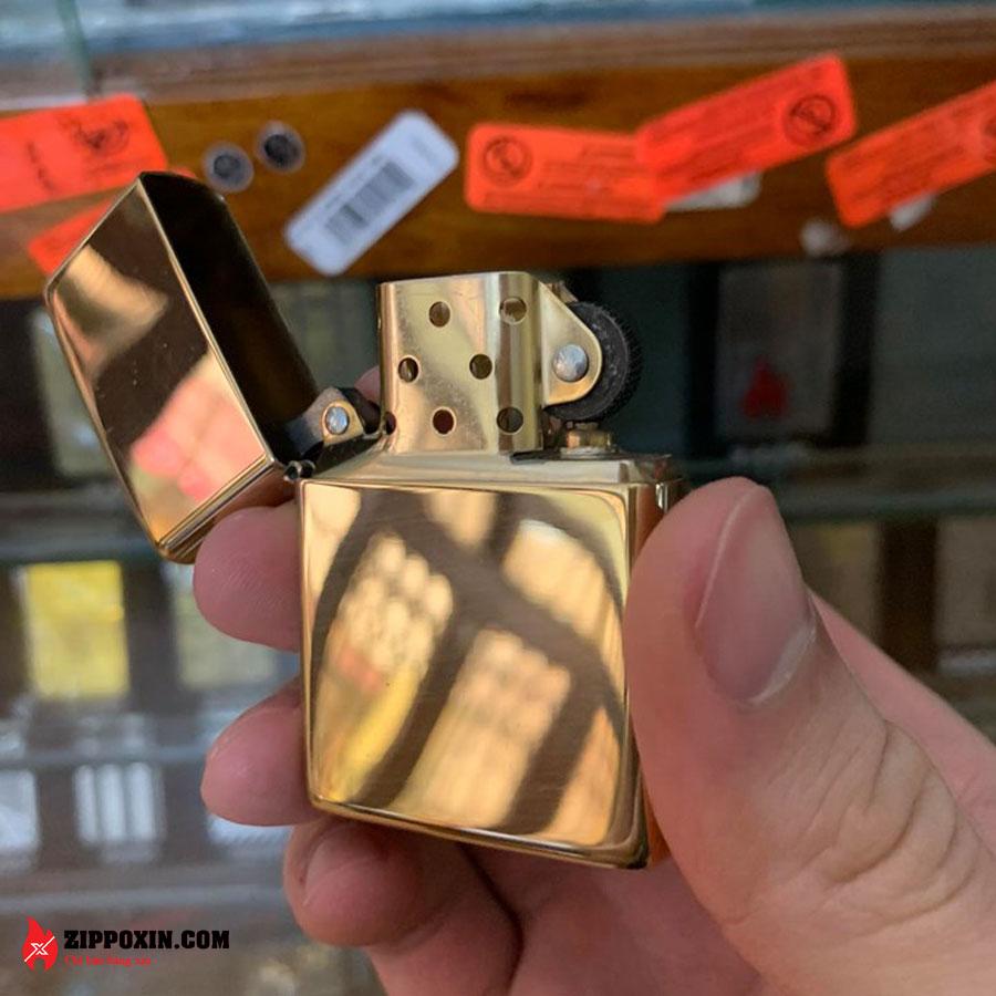Bật lửa Zippo vàng trơn bóng 254B-4
