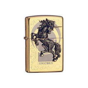 Bật lửa Zippo vỏ ốp kỳ lân Unicorn ZP0015