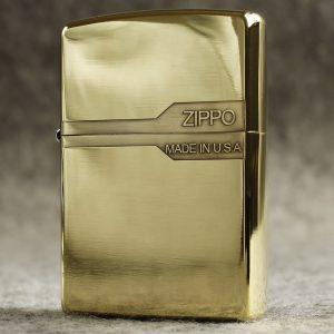 Bật lửa Zippo logo hãng trên nền đồng khối ZP16