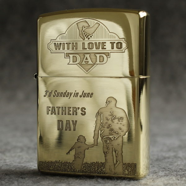 Zippo vỏ đồng cao cấp Father's Day - ZP17