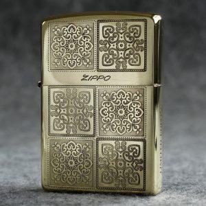 Zippo khắc ăn mòn axit họa tiết ô cửa - ZP18