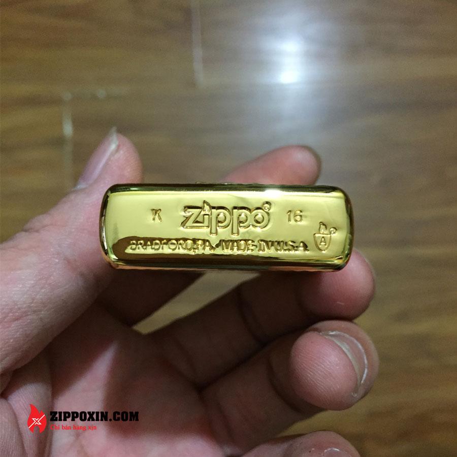 Bật lửa Zippo ốp phật tổ mạ vàng cao cấp ZBT-2-20B-5