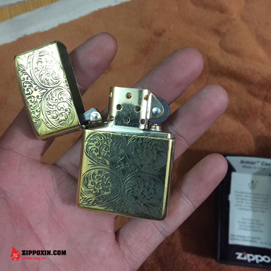 Bật lửa Zippo vỏ dày hoa văn hai chiều ZP30-4