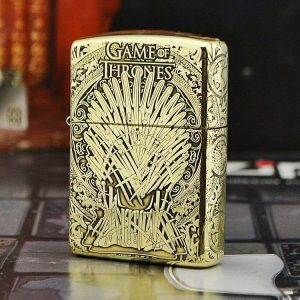 Bật lửa Zippo vỏ dày ngôi báu Game of Throne ZP33