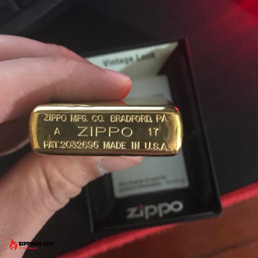 Bật lửa Zippo chặt góc vàng 270-5