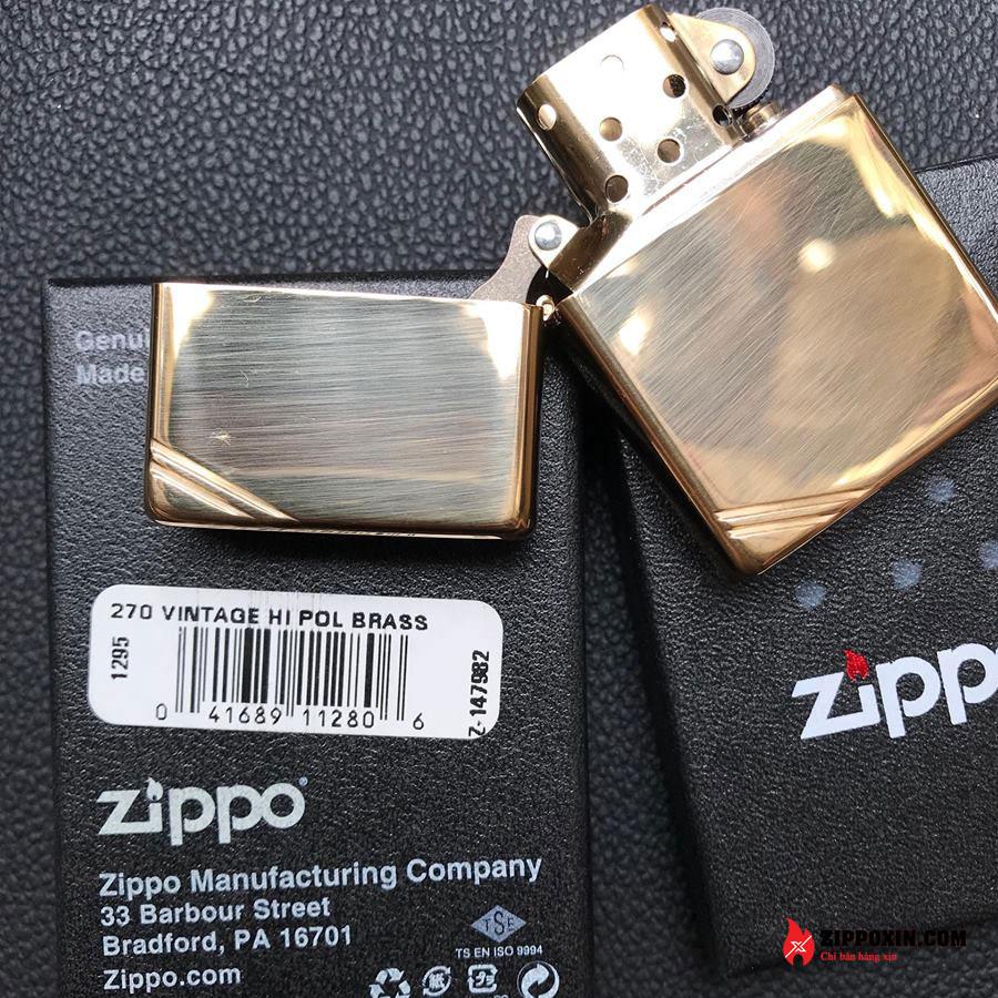 Bật lửa Zippo chặt góc vàng 270-1