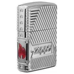 Zippo chính hãng Bolts Design ngọn lửa cạnh 29672